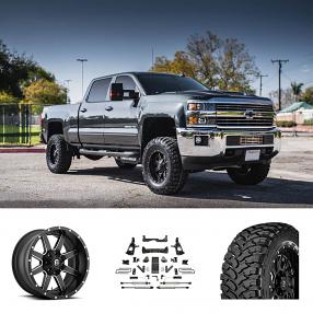 """2016 Chevrolet Silverado 2500 HD 18x10"""" Wheels+Tires+Suspension Package Deal"""