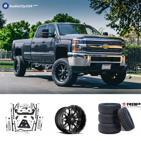 "2015 Chevrolet Silverado 20x10"" Wheels+Tires+Suspension Package Deal"