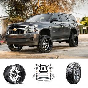 "2016 Chevrolet Tahoe 22x14"" Wheels+Tires+Suspension Package Deal"