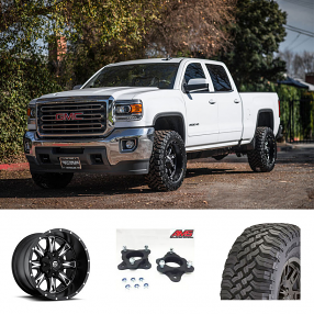 "2016 GMC Sierra 2500 HD 20x10"" Wheels+Tires+Suspension Package Deal"