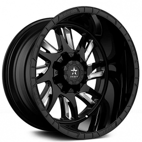 "20"" RBP Wheels 69R Swat Black with Chrome Inserts Off-Road Rims"