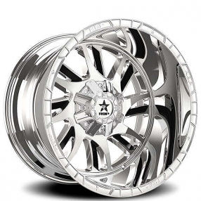 "22"" RBP Wheels 69R Swat Chrome with Black Inserts Off-Road Rims"