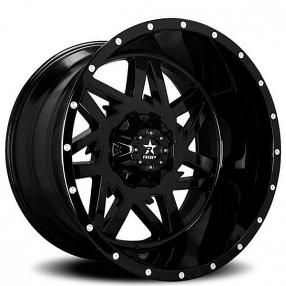 """20"""" RBP Wheels 71R Avenger Gloss Black Off-Road Rims"""