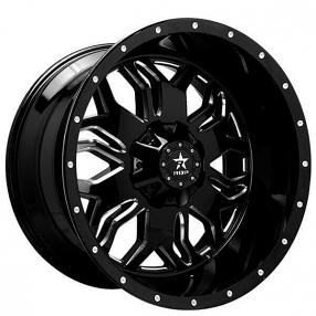 "24"" RBP Wheels 87R Blade Gloss Black Milled Off-Road Rims"