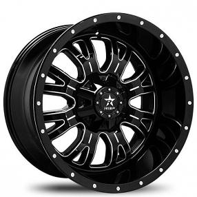 "18"" RBP Wheels 89R Assassin Gloss Black Milled Off-Road Rims"