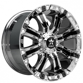 "20"" RBP Wheels 94R Chrome with Black Inserts Off-Road Rims"