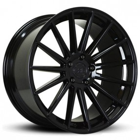 "20"" Staggered Road Force Wheels RF15 Gloss Black Rims"