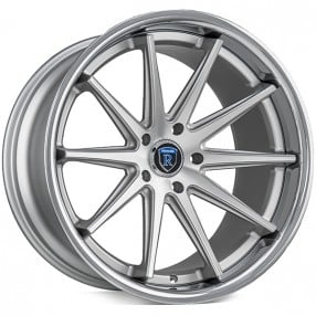 "20"" Staggered Rohana Wheels RC10 Machined Silver Rims"