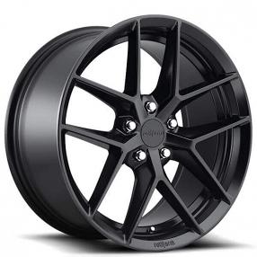 """18"""" Rotiform Wheels R134 FLG Matte Black Rims"""
