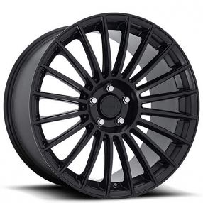 "20"" Staggered Rotiform Wheels R157 BUC Matte Black Rims"