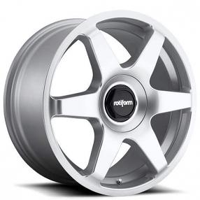 "19"" Rotiform Wheels R114 SIX Gloss Silver Rims"