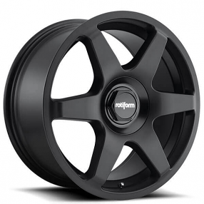 "18"" Rotiform Wheels R113 SIX Matte Black Rims"