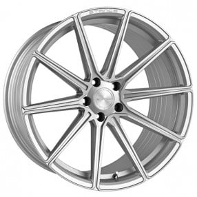 "22"" Stance Wheels SF09 Brush Silver Rims"