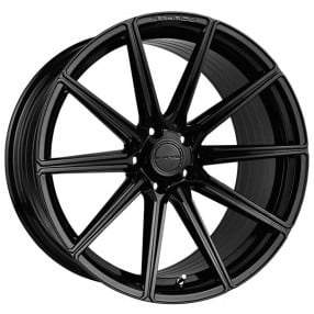 "20"" Staggered Stance Wheels SF09 Gloss Black Rims"