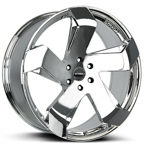 """22"""" Strada Wheels Coltello Chrome Rims"""