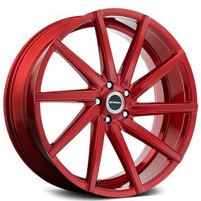 "22x9"" Strada Sega Candy Red Wheels (5x115, +15mm)"