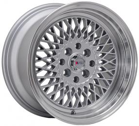 """15"""" F1R Wheels F01 Silver JDM Style Rims"""