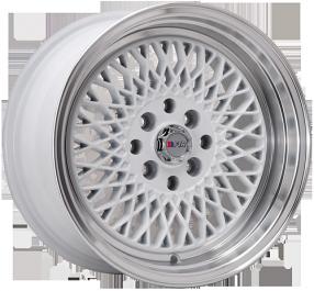 "15"" F1R Wheels F01 White JDM Style Rims"