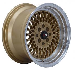 "15"" F1R Wheels F01 Gold JDM Style Rims"