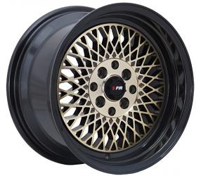 "15"" F1R Wheels F01 Bronze with Black Lip JDM Style Rims"