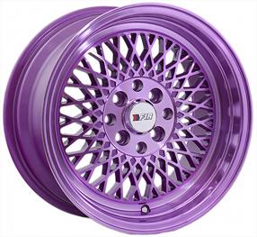 "15"" F1R Wheels F01 Purple JDM Style Rims"