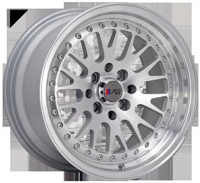 """15"""" F1R Wheels F02 Silver JDM Style Rims"""