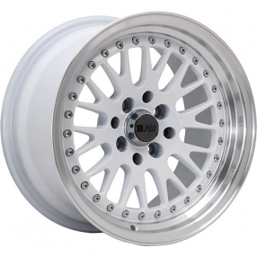 "15"" F1R Wheels F02 White JDM Style Rims"