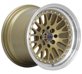 "15"" F1R Wheels F02 Gold  JDM Style Rims"