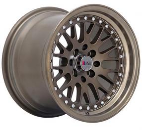 "15"" F1R Wheels F02 Matte Bronze JDM Style Rims"