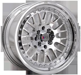 "15"" F1R Wheels F02 Chrome JDM Style Rims"