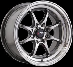 "15"" F1R Wheels F03 Gunmetal JDM Style Rims"