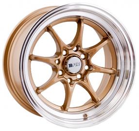 "15"" F1R Wheels F03 Gold JDM Style Rims"
