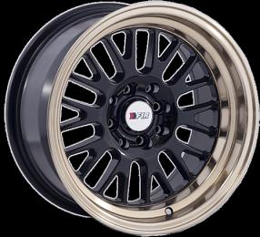 "15"" F1R Wheels F04 Black with Bronze Lip JDM Style Rims"