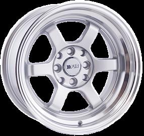 """15"""" F1R Wheels F05 Silver JDM Style Rims"""