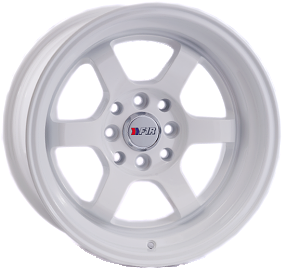 "15"" F1R Wheels F05 White JDM Style Rims"