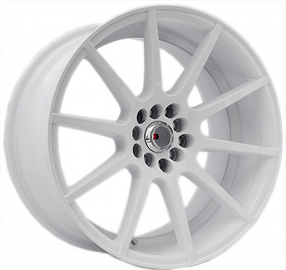"""17"""" F1R Wheels F17 White Rims"""
