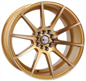 "17"" F1R Wheels F17 Gold Rims"
