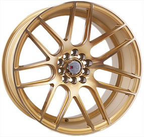 """17"""" F1R Wheels F18 Machined Gold Rims"""