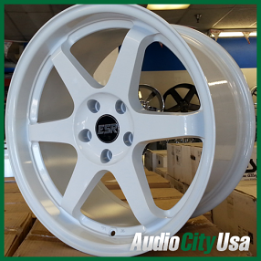 "17"" ESR Wheels Rims SR07 White JDM Style"