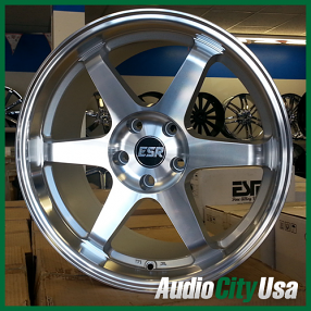 "17"" ESR Wheels Rims SR07 Machined JDM Style"
