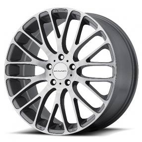 "20"" KMC Wheels KM693 Maze Pearl Gray with Brushed Face Rims"