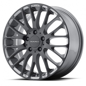 "20"" KMC Wheels KM693 Maze Pearl Gray with Gloss Black Face Rims"