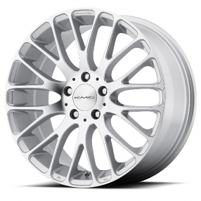 "20"" KMC Wheels KM693 Maze Silver Machined Face Rims"