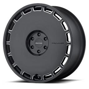 "22"" KMC Wheels KM689 Skillet Satin Black Milled Rims"