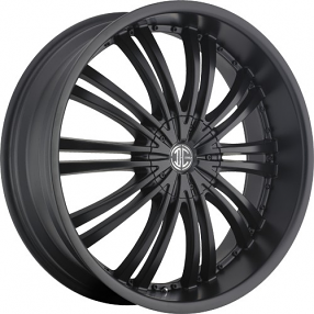 "20x8.5"" 2Crave Wheels No.1 Satin Black Rims"