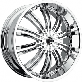"20x8.5"" 2Crave Wheels No.1 Chrome Rims"