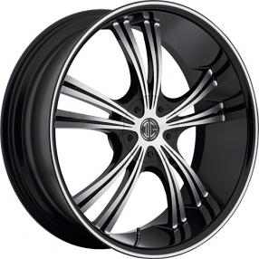 "20x8.5"" 2Crave Wheels No.2 Black Diamond Glossy Black Rims"