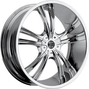 """20x8.5"""" 2Crave Wheels No.2 Chrome Rims"""