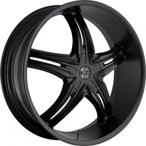 "20x8.5"" 2Crave Wheels No.5 Satin Black Rims"