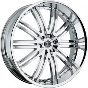 "22"" 2Crave Wheels No.11 D1 Chrome Rims"